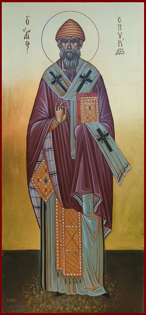 Спиридон Тримифунтский, икона, icon, Spyridon of Trimythus, Saint Spiridon of Trimythus